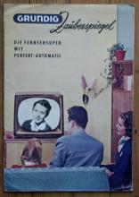 rare vintage Grundig television ephemera catalog