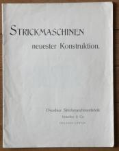 antique German industrial knitting sales catalog