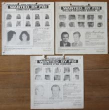 original real 1970's FBI wanted posters