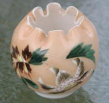 antique pinched glass vase