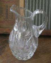 small antique cut crystal pitcher