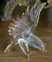 small glass and gilt Eagle statue