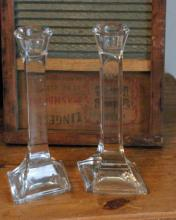 pair of vintage crystal candlesticks or candle holders