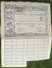 antique 1906 French bearer bond, stock or share paper