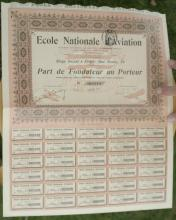 antique 1911 French bearer bond, stock or share paper
