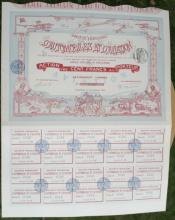 antique 1910 French bearer bond, stock or share paper