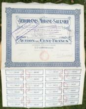 antique 1912 French bearer bond, stock or share paper