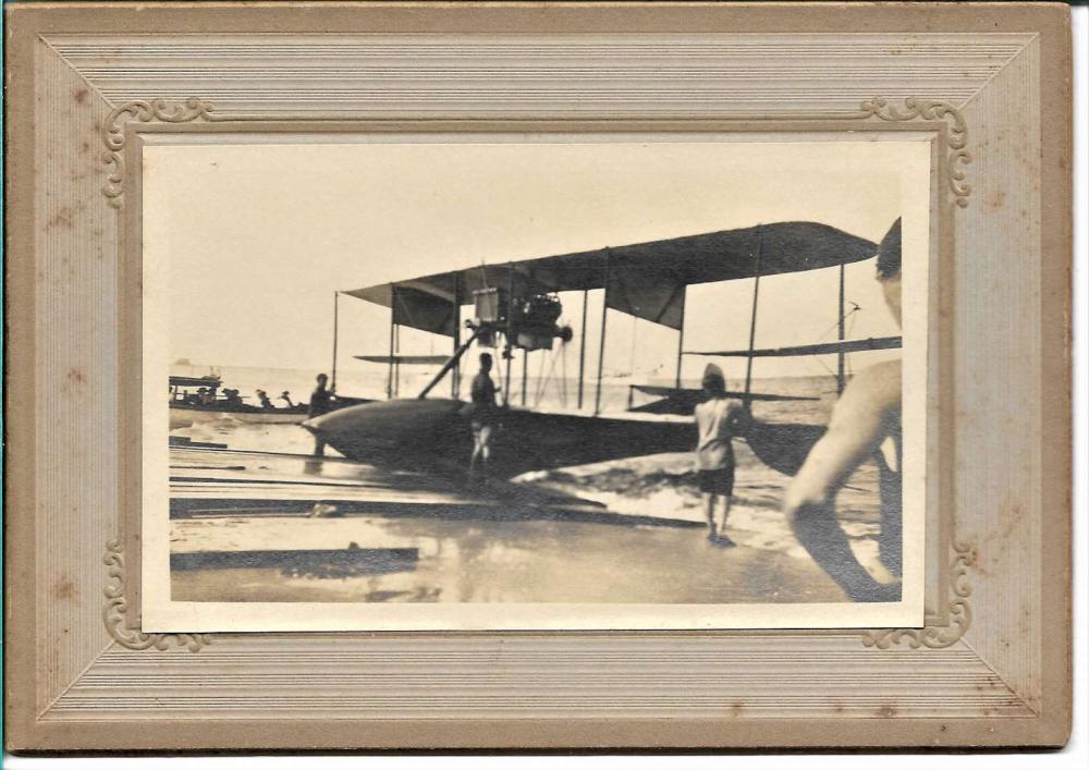 Atlantic City ca. 1913 aviation cabinet photograph
