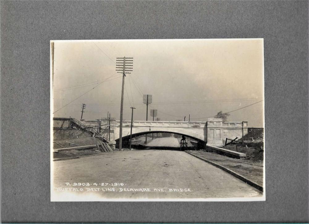 antique 1910 cabinet photograph of a bridge