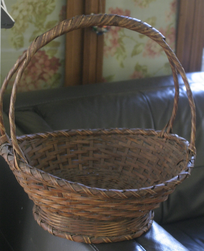 antique or vintage woven basket