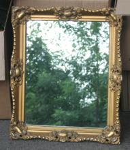 antique gilt carved wooden wall mirror