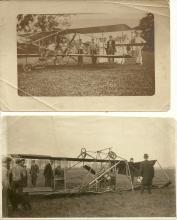 pair of very rare ca. 1910 antique aviation photographs