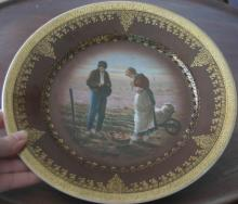 antique Royal Vienna porcelain scene plate