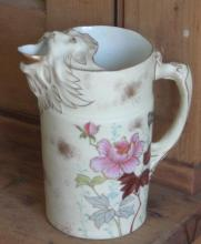 antique Japanese Satsuma porcelain creamer