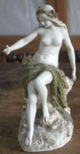 very rare antique Royal Dux Teplitz nude mermaid statue
