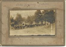antique cabinet photograph of loggers