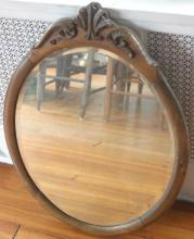 antique Arts and Craft Era wall mirror