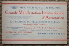 rare antique aviation balloon handbill