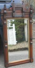 antique Victorian Eastlake tall wall mirror