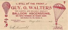 rare antique 1896 aviation ephemera balloon letter