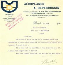 rare antique 1911 aviation ephemera factory letter