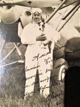 signed and inscribed aviation photograph