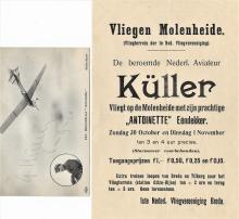 rare antique aviation handbill and autograph