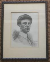 framed portrait of Wilbur Wright brothers