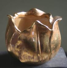 vintage Stangl Granada gold vase