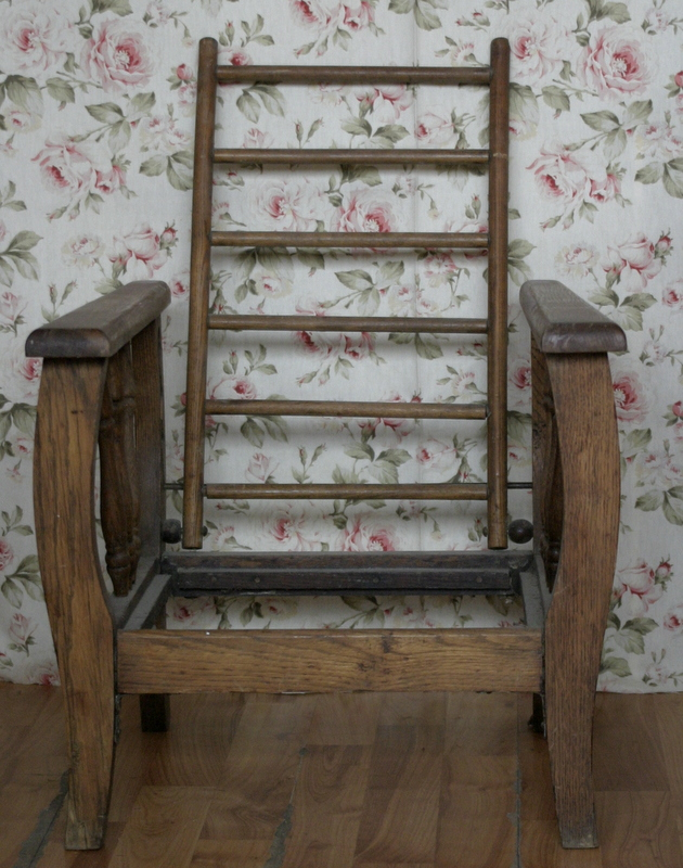 Antique Arts And Craft Early 1900s Child Size Morris Chair