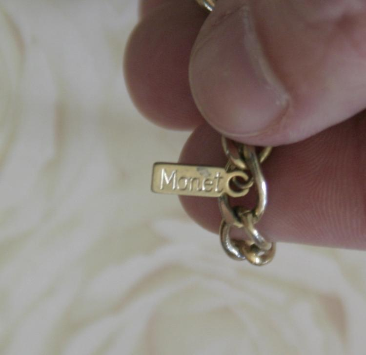 Is Monet Jewelry Real >> estate jewelry: pair of vintage Monet necklaces, both marked