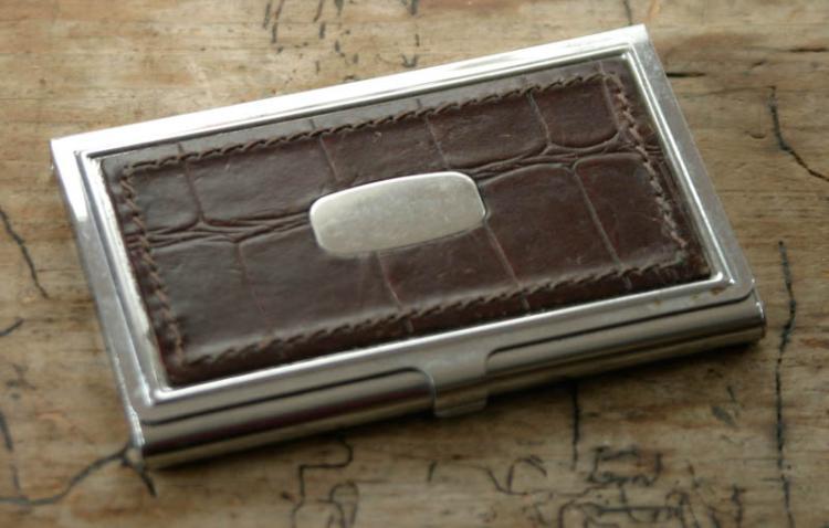 Vintage business card holder for Vintage business card case