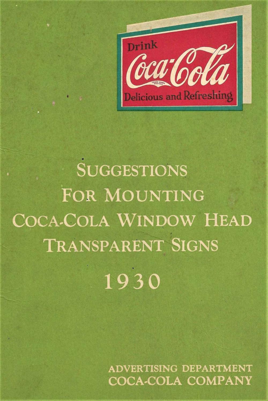 rare 1930 Coca Cola ephemera booklet