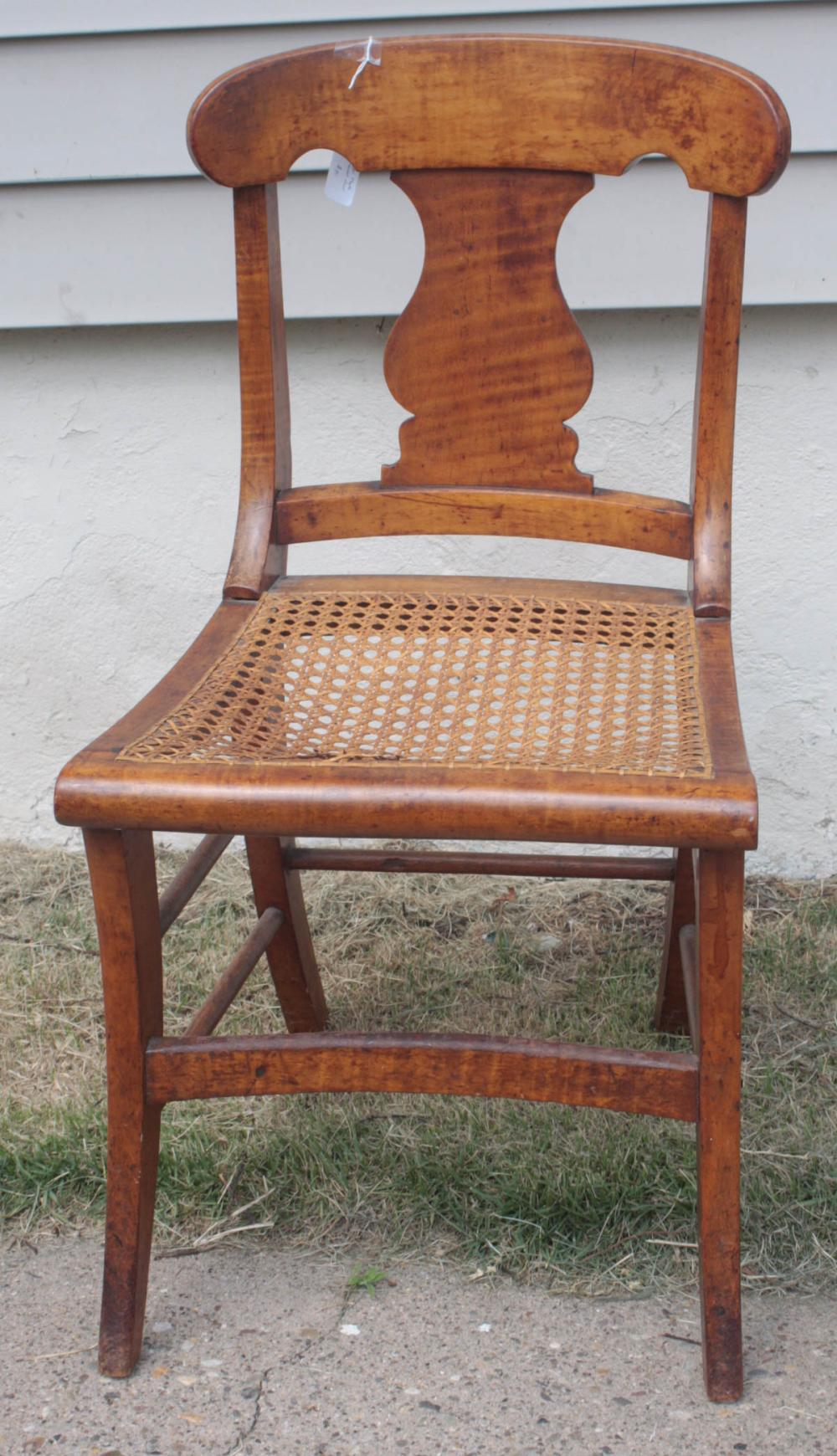antique curly tiger maple side chair