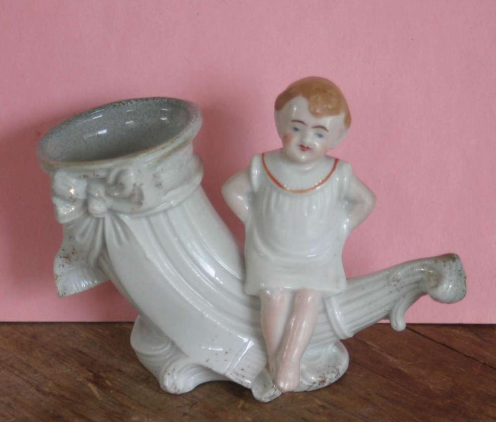 antique porcelain figural vase
