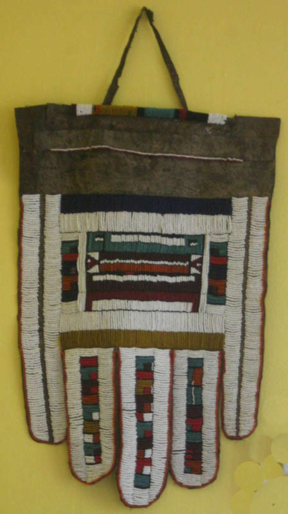 antique African wedding apron Ndebele tribe