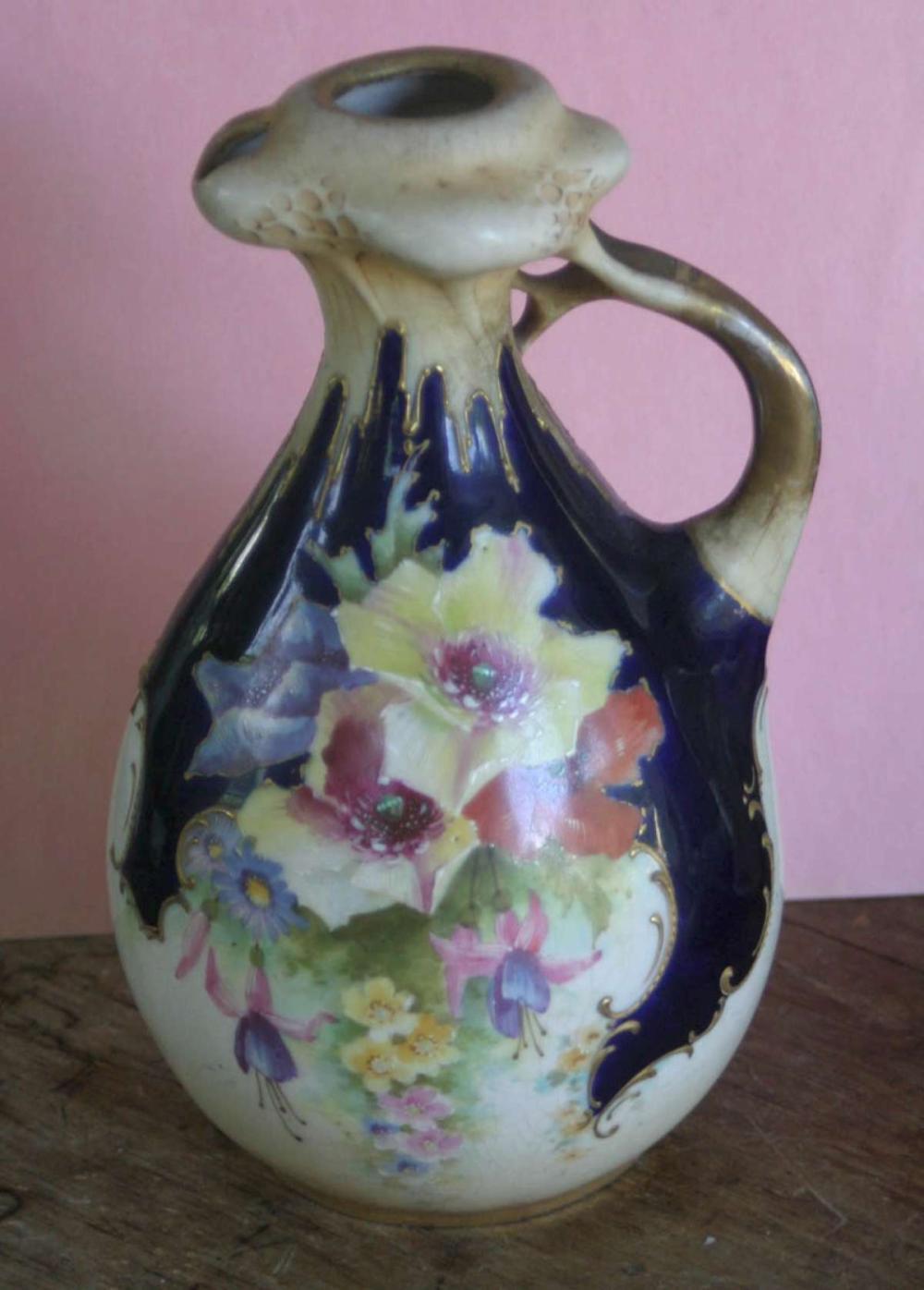 antique porcelain Royal Dux Art Nouveau vase