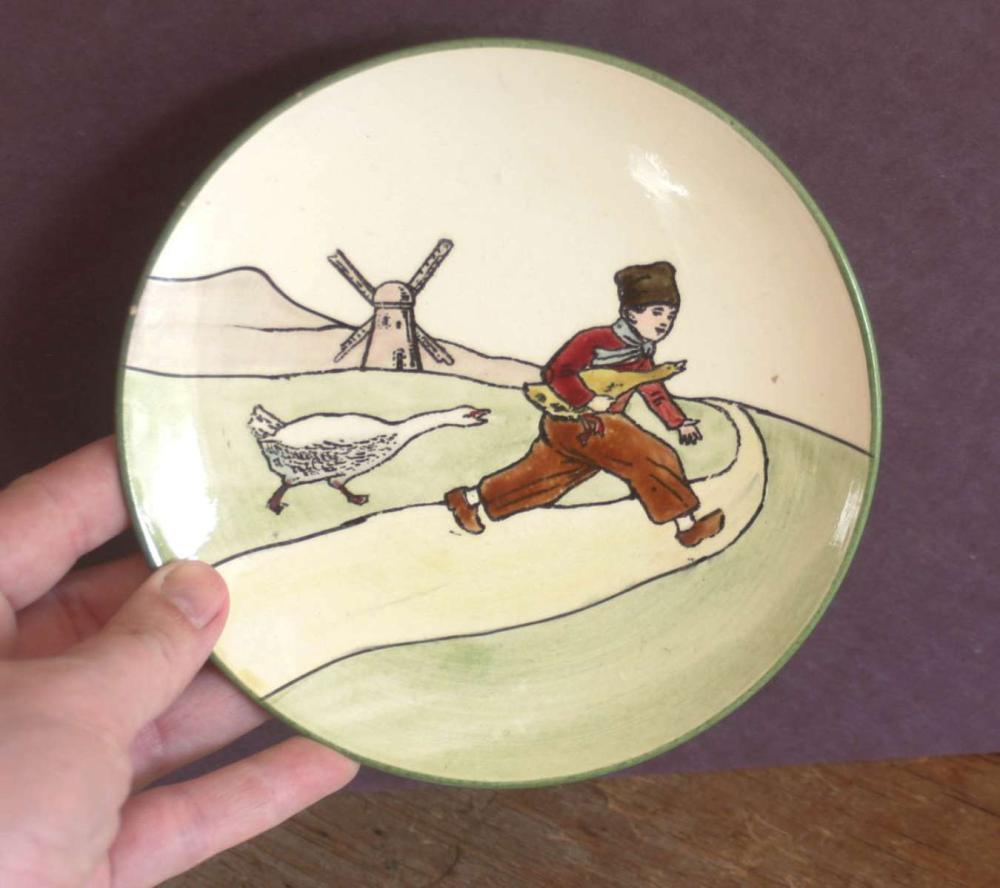 antique Dutch scene small plate