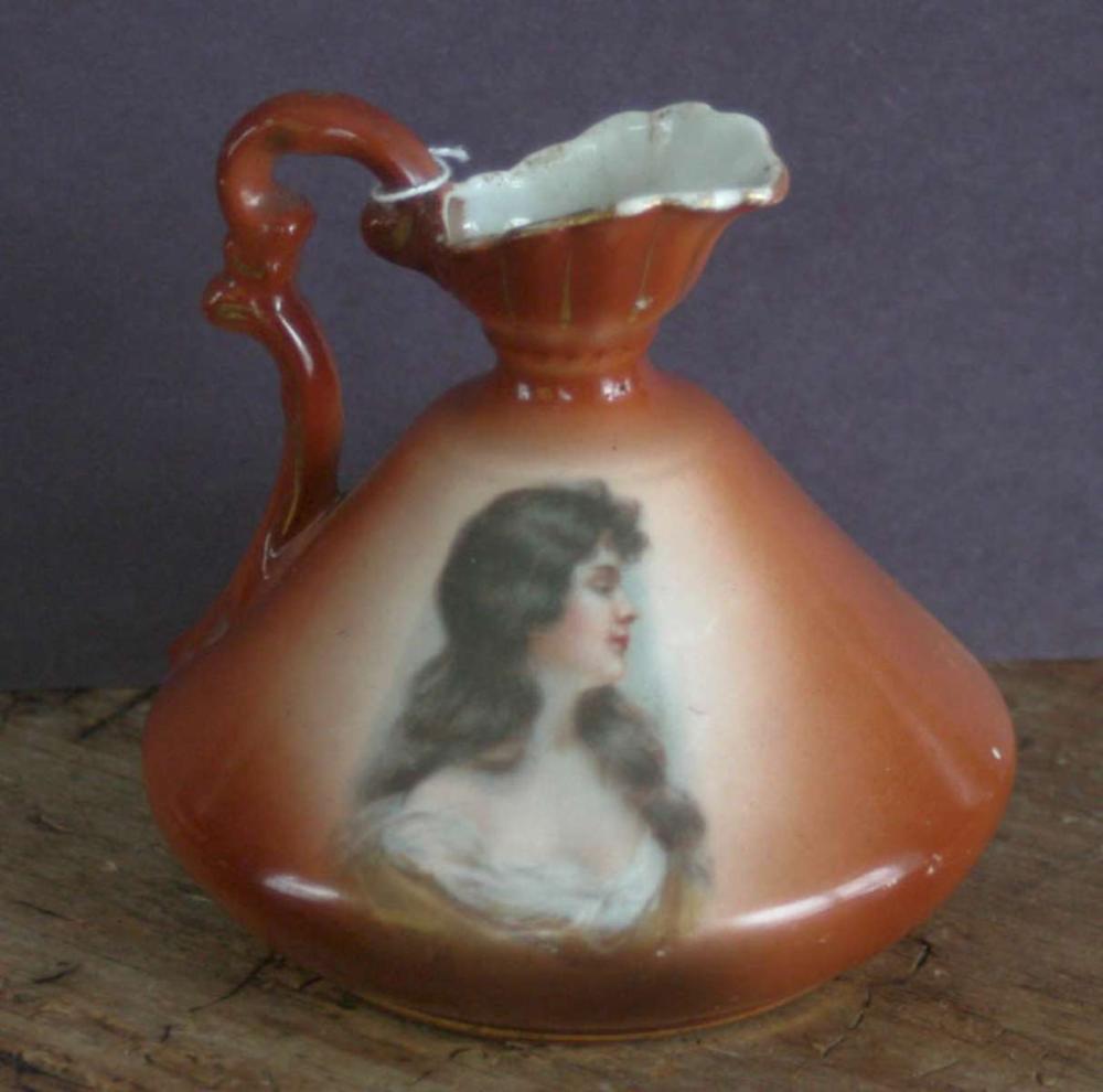 antique Austrian porcelain pitcher