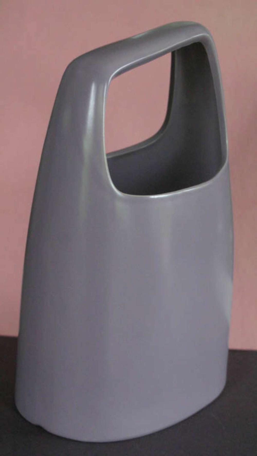 unusual Mid Century Modern porcelain vase