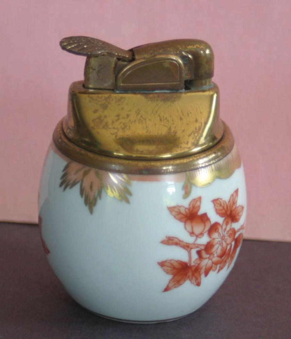 vintage porcelain table lighter by Herend