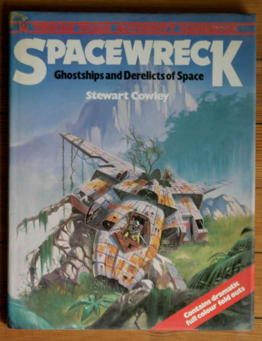 vintage book Spacewreck Ghostships and Derelicts of Space