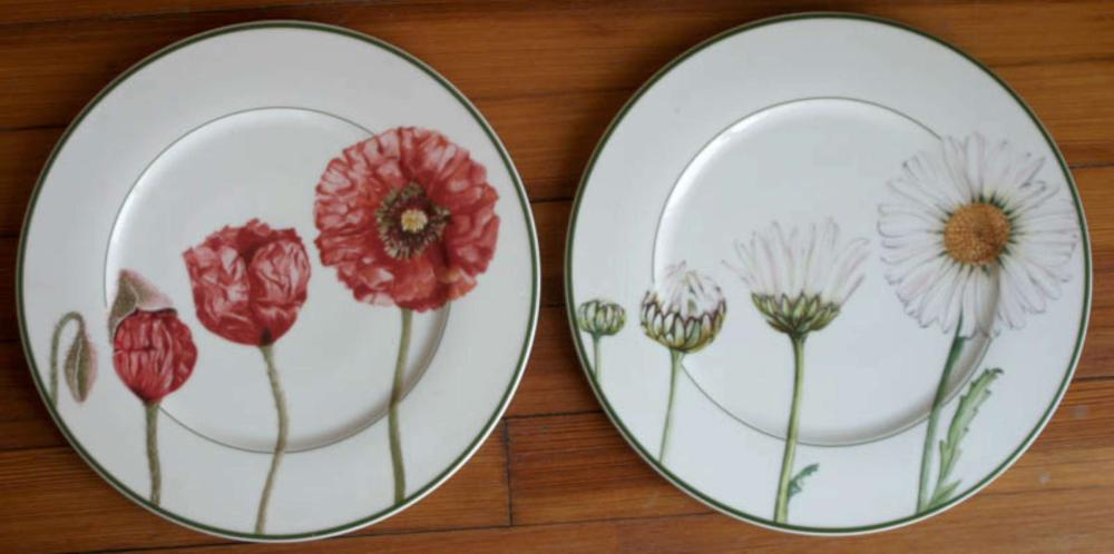 pair of large vintage Villeroy and Boch charger plates