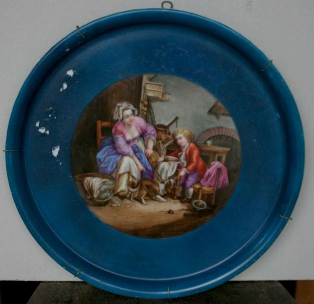 huge antique hand painted Sevres charger