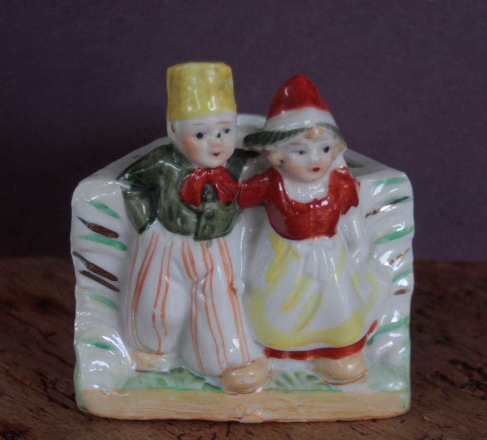 antique porcelain figural planter