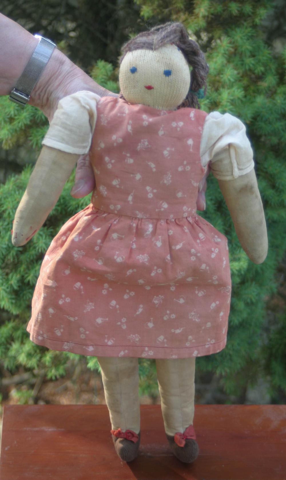 vintage floppy limb girl doll