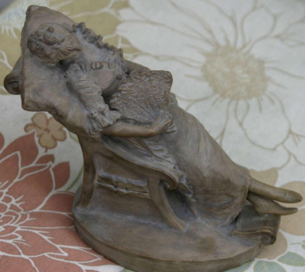antique Goldscheider style figural statue