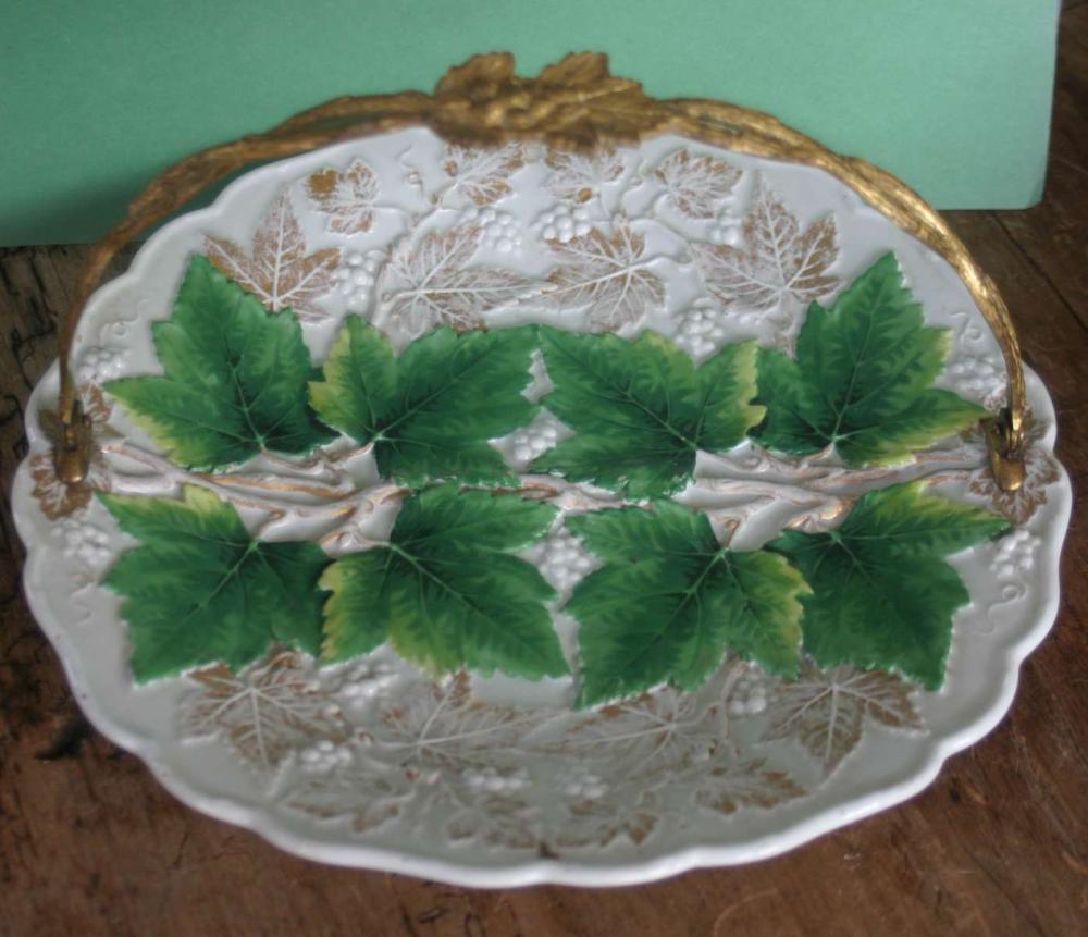 antique Meissen German porcelain plate