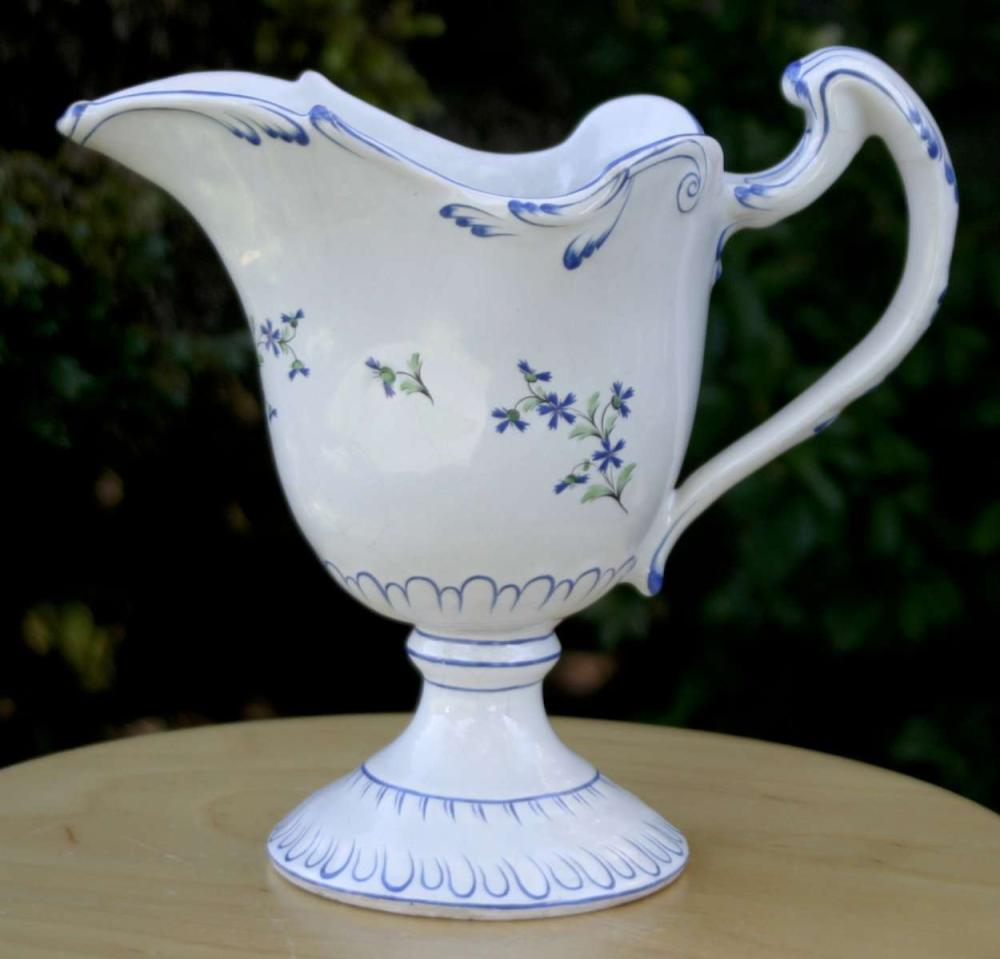 late 1700s antique German pottery pitcher hand painted