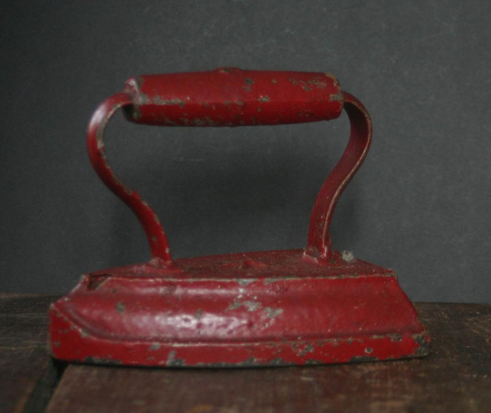 antique Early American clothes iron